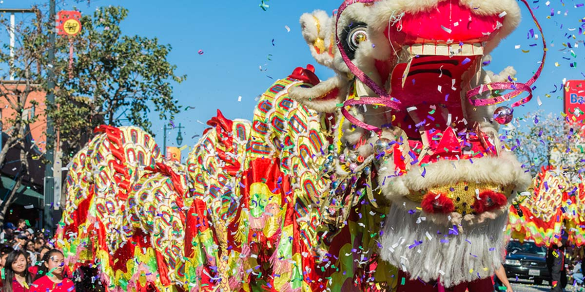 ACCOB member celebrate their culture with a Chinese dragon parade