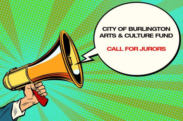 Cartoon megaphone with copy that reads Call for Jurors