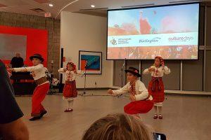 Young Ukrainian dancers perform in the Shoreline Room in the Art Gallery of Burlington