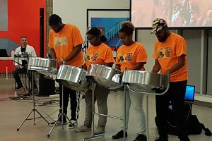 Steelpan group perform in the Shoreline Room in the Art Gallery of Burlington