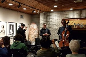 Janet Cozens Quartet-Mozart perform in the Fireside lounge in the Art Gallery of Burlington