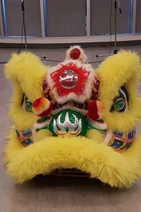 Lion dance performed in the Shoreline Room in the Art Gallery of Burlington