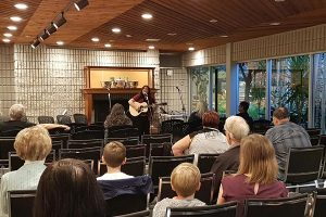 Hayley Verrall performs in the Fireside lounge in the Art Gallery of Burlington