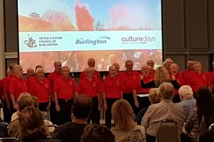 Welsh Male Choir perform in the Shoreline Room in the Art Gallery of Burlington