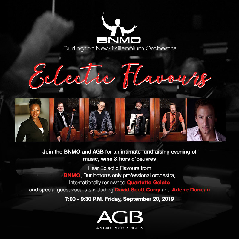 Hear Eclectic Flavours from BNMO, Quartetto Gelato, David Scott Curry and Arlene Duncan.