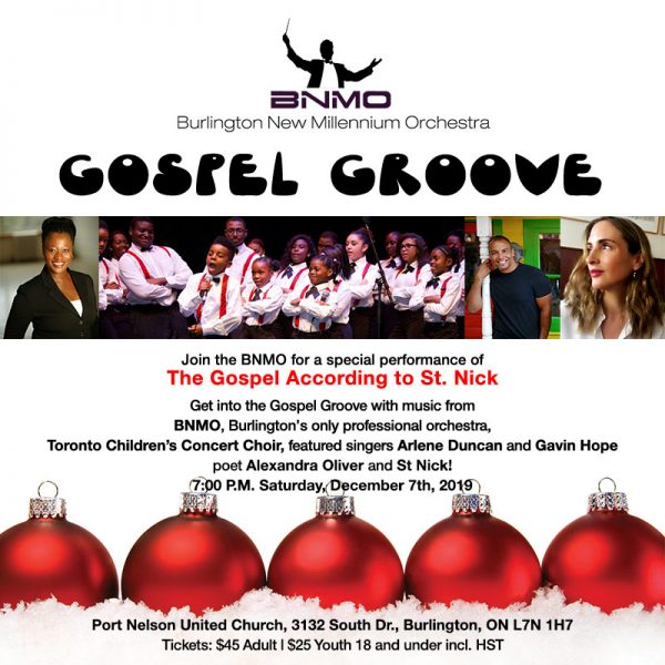 Burlington New Millennium Orchestra Gospel Groove